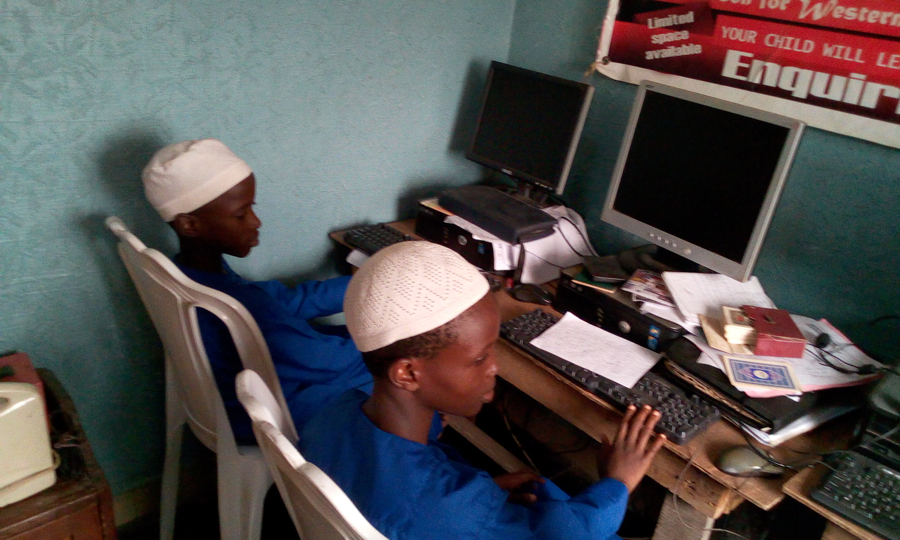 ABD RAHMAN AKINTUNDE AND HABEEB ADEWALE ARE IN COMPUTER LAB IN THE HOSTEL1