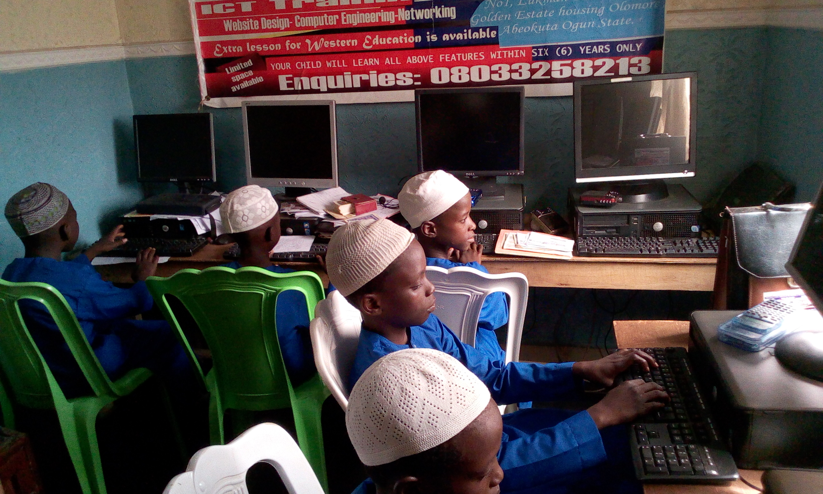 IIAIS STUDENT ARE IN HOSTEL COMPUTER LAB1