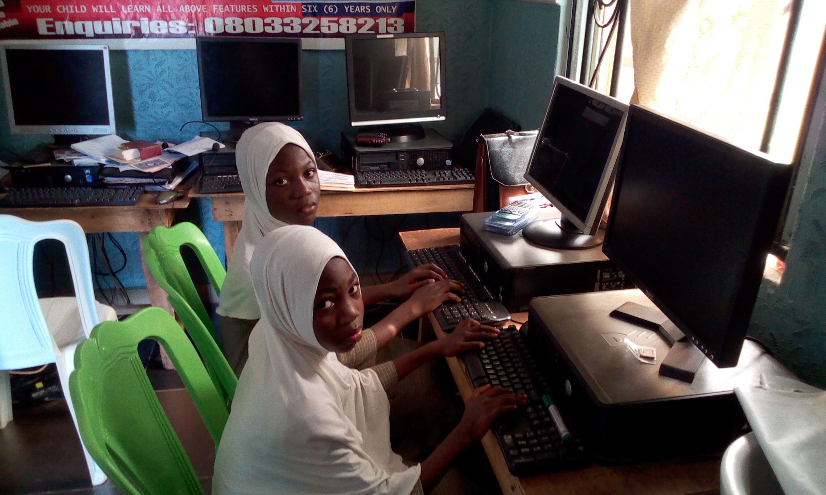 IIAIS STUDENTS ARE IN COMPUTER LAB7