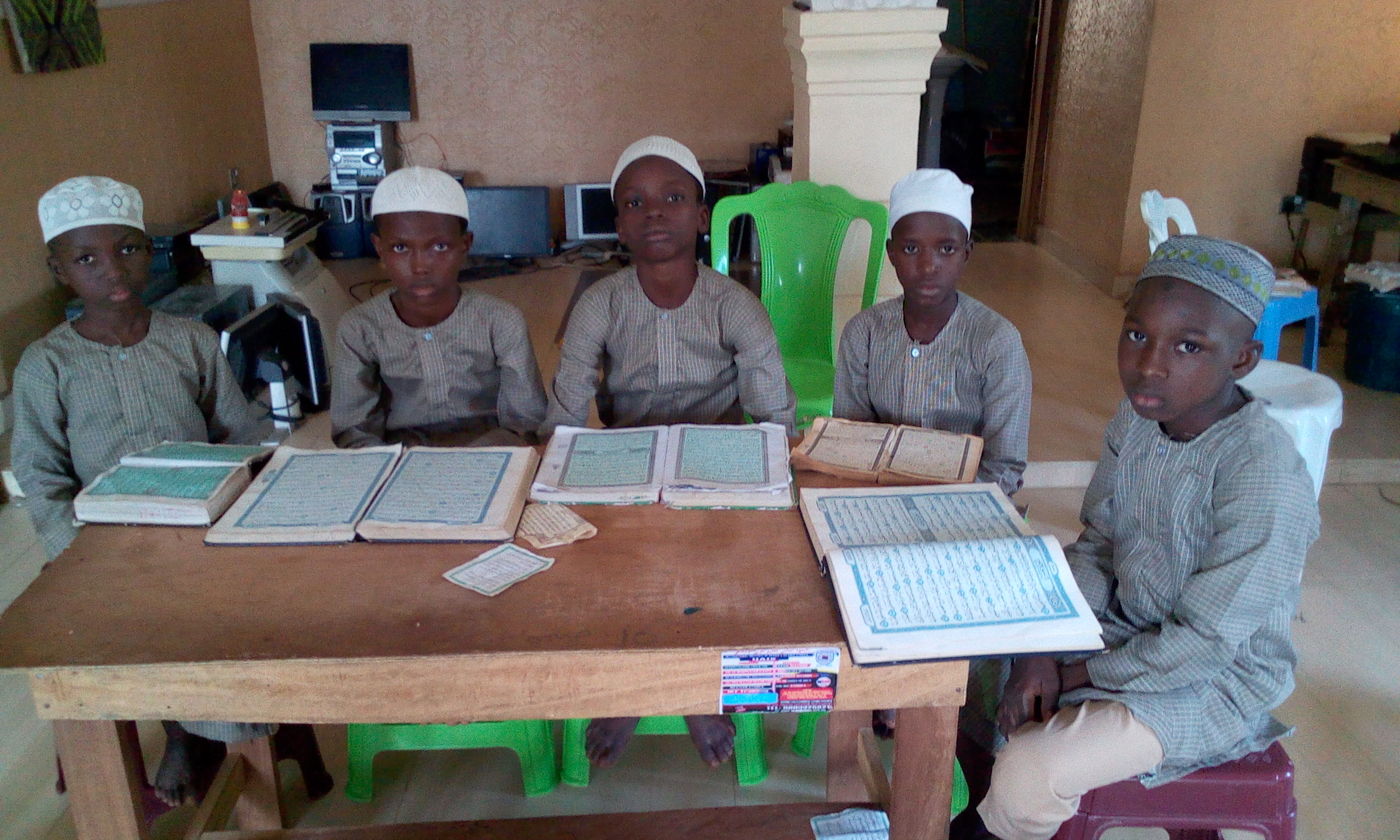 IIAIS STUDENTS DURING THE QUR'AN MEMORIZATION DRILL